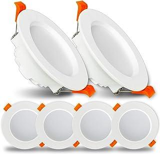 LED Spot Encastré 9W Spot Led Encastrable Ketom Downlight LED Blanc Froid 6500K 620LM Rond Extra Plate Spot Plafond pour S...