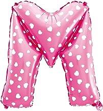 Cotigo-Globo Letra Foil Color Rosa con Corazón para Fiestas de Cumpleaños 40cm (M)