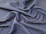Italienisches Strukturgewebe Polyester Kleid Stoff Denim