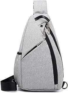 Fashion Men's Shoulder Slung Canvas Men's Chest Bag Suitable for Travel and Leisure (Color : Gray, Size : S)