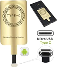 XIKOU QI Wireless Charging Receiver for Samsung Galaxy A20 A30s A40 A50s A60 A70 A80 A90 5G M20 M30s M40 Moto Z4 G7 LG Q70 Stylo5 Android Smart Device USB Type-C Wireless Charging Receiver
