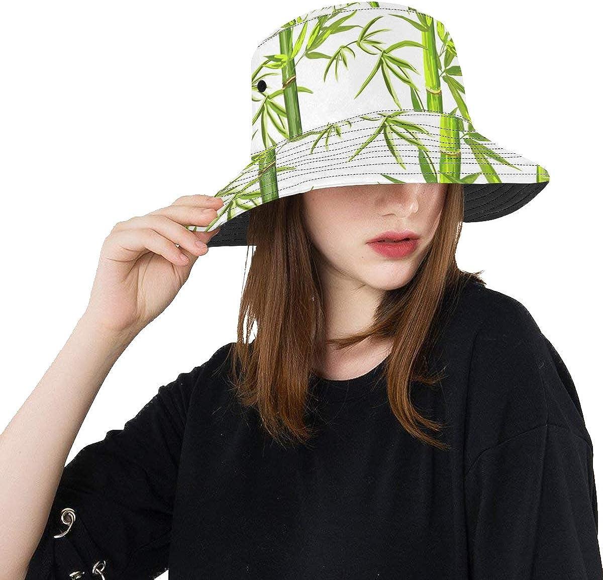Outdoor Hat for Girls Nature Fresh Tropical Rainforest Bamboo Summer Unisex Fishing Sun Top Bucket Hats for Teens Women Fisherman Cap Outdoor Sport Sun Hat Kids Girls