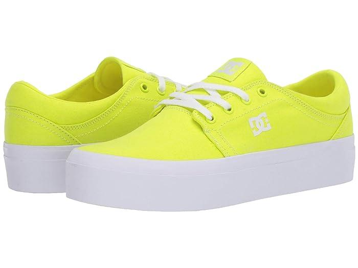 DC  Trase Platform TX (Bright Yellow) Womens Skate Shoes