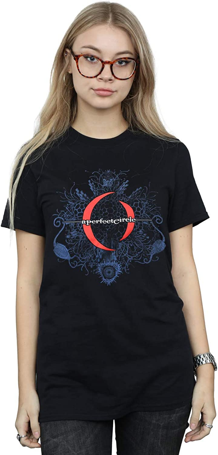 Absolute Cult A Perfect Circle Women's Mandala Logo Boyfriend Fit TShirt