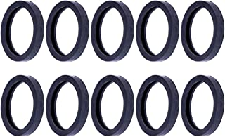 SCITOO Compatible with Rubber Gas Spout Gaskets, 10 Pcs Rubber Viton Gaskets Replacment Fuel Gas Can Seals Spout Gasket Jerry Can Cap Gaskets Rubber Viton U-Seal Gaskets for Gas Spout