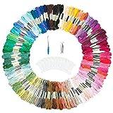 ZWOOS 143 Hilos de Bordar, Kit de bordado, Hilos de Punto de Cruz, que incluye 100 hilos de colores, 43 Kit de Inicio de Bordado para costura de punto de cruz costura DIY
