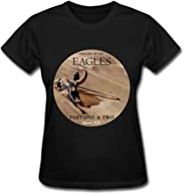 ZYX The Eagles Band History of The Eagles Tour 2015 Album T Shirt for Women Black