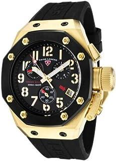 Men's 10541-YG-01-BB Trimix Diver Collection Chronograph Black Rubber Watch