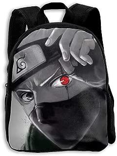 MPJTJGWZ Children's Backpack Casual Oxford Cloth Fashion Sharingan Eye Kakashi Print School Bag