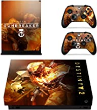 Xbox One X Skin Set - Destiny 2 HD Printing Skin Cover Protective for Xbox One X Console & 2 Controller by Mr Wonderful Skin