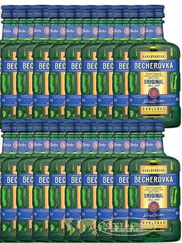 Becherovka Karlsbader Kräuterbitter 20 x 0,05 Liter Miniaturen