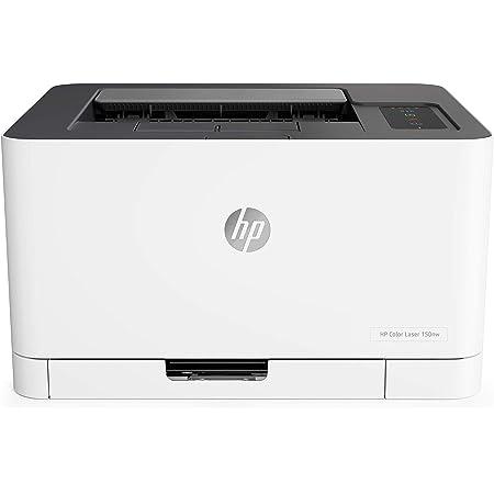 HP Color Laser 150nw 4ZB95A, Stampante A4 a Colori, Singola Funzione, Wi-Fi, Wi-Fi Direct, Ethernet, USB 2.0, HP Smart, 18 ppm in b/n, 4 ppm; Fronte e Retro Manuale, Pannello di Controllo LED, Bianca