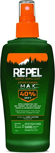 Repel Insect Repellent Sportsmen Max Formula Spray Pump 40 DEET 6 Ounce 12 Pack