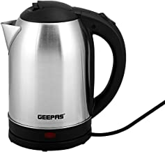 Geepas 1.8L Electric Kettle | Stainless Steel Cordless Kettle| Auto Shut-Off & Boil-Dry Protection | Heats up Quickly & Ea...