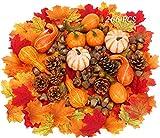Chensensor 266 piezas de calabazas artificiales para decoración de otoño cosecha decoración del hogar boda fiesta mesa chimenea decoración