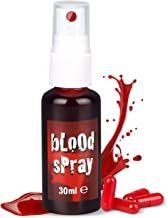 SOOFUN Halloween Fake Blood, Washable Face Blood for Clothes, Easy to Clean, Spray Blood Vampire Paint Splatter 1oz/30ml, ...