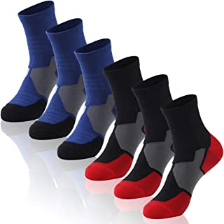 Insox Running Socks, Womens Mens Athletic Performance Hiking Workout Golf Ankle Socks 1/3/6 Pairs