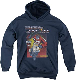 Transformers Optimus Prime Unisex Youth Pull-Over Hoodie for Boys and Girls