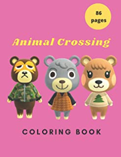 Animal Crossing: Coloring book for kids and adults with calming graphics