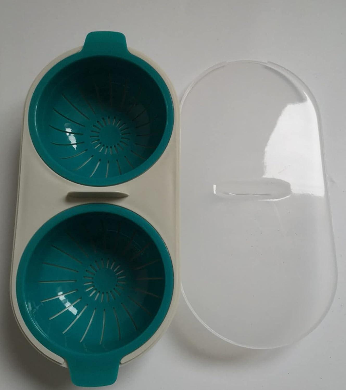 Eggs Poacher Cup Microwaveable Draining Egg Boiler Double Cup Egg Cooker Egg Steamer Kitchen Gadget