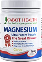 Cabot Health Magnesium Ultra Potent Citrus Powder, 465 Grams
