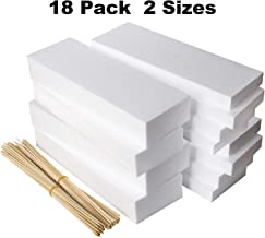 18 Pack Foam Blocks - Styrofoam Rectangle Blocks -Floral Foam -Craft Foam- For Crafting, Modeling, Sculpture, DIY Arts And Crafts, Flower foam -Foam Rectangle- 2 Sizes 12 x 4 x 2 and 12 x 4 x 1 inches