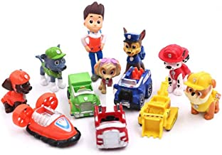 12PCS Paw dogs Patrol cake topper Cup cake topper mini Figurines kids mini toys Premium Party Favors for Kids Kids birthda...