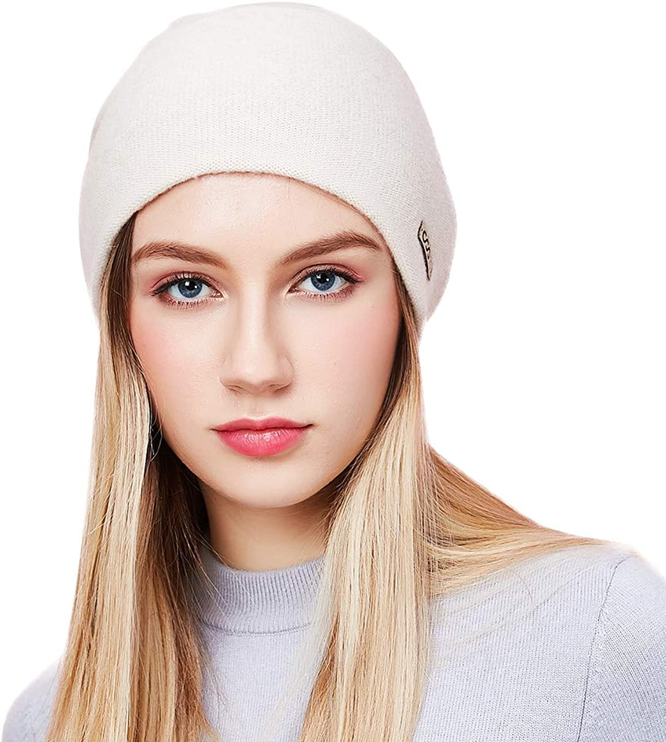 MUNI Women Beanies Winter Wool Hat Female Women Knitted Thick Solid Cap 2018 Warm Casual Autumn Skullies Beanie