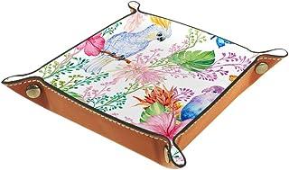 Boîte de rangement en cuir synthétique carré pour les jeux de table en dés de jeux de clés, porte-monnaie, plateau de bure...