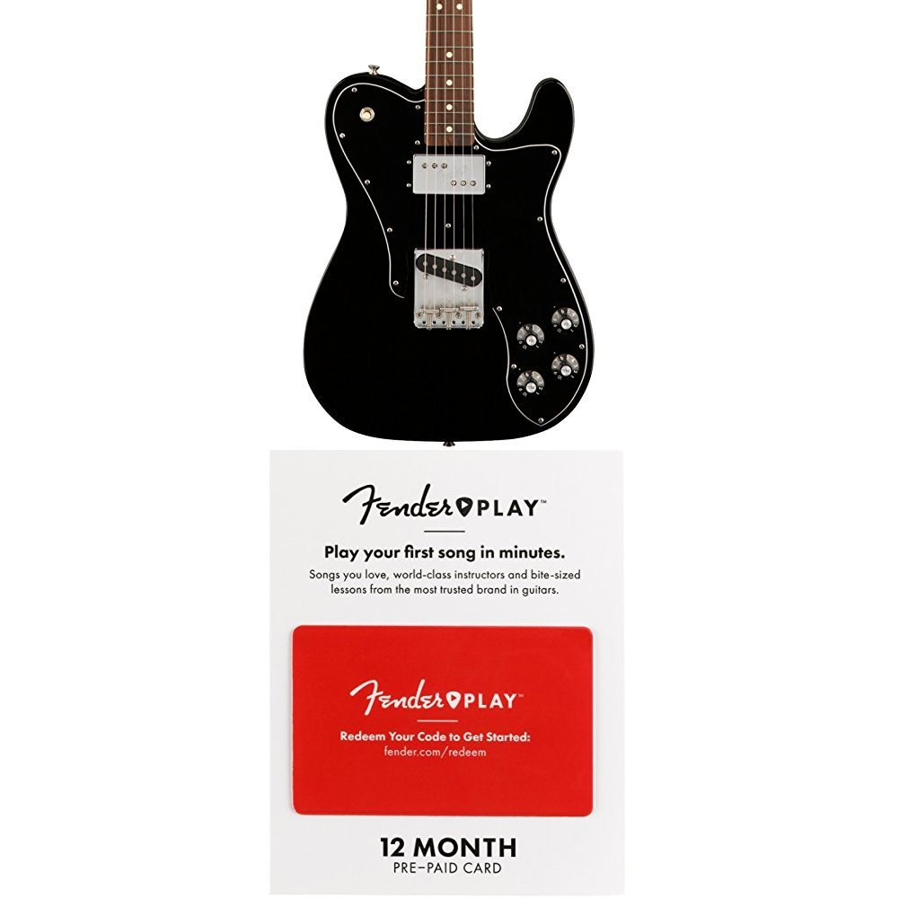 Cheap Fender Classic Series 72 Telecaster Custom Electric Guitar - Pau Ferro Fingerboard - Black With 12 Months Guitar Lesson Gift Card Black Friday & Cyber Monday 2019