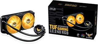 ASUS TUF Gaming LC 240 RGB All-in-one Liquid CPU Cooler (Aura Sync,TUF 120mm RGB Radiator Fans with Fan Blade Groove Design)