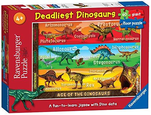 Ravensburger Puzzle Dinosaures Deadliest 60 pièces pour Enfants à partir de 4 Ans.