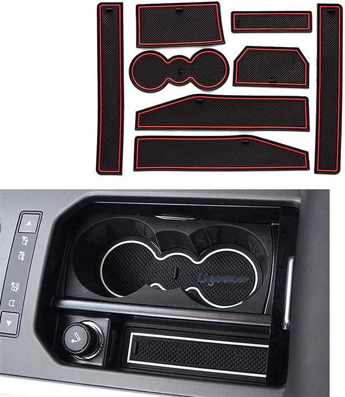 Maiqiken Rutschfest Auto Innere Türschlitz Arm Box Aufbewahrung Matten Pads Passt Für Land Rover Evoque 2012 2015 Anti Staub Tor Schlitz Auflage Schalen Matte Weiß Auto