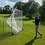 クイックプレイ マルチスポーツ用 大型集球ネット クイックヒット 2.4m×2.4m ゴルフ 軟式野球 テニス等 バッティングネット 8QH