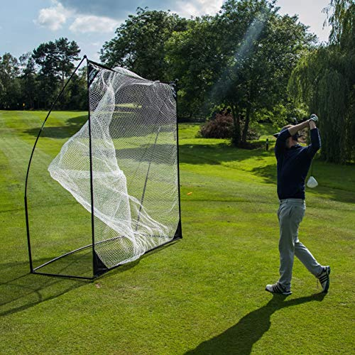 QUICKPLAY Quick-Hit Ultra-Portable Golf Practice Hitting Net (Square - 8x8')