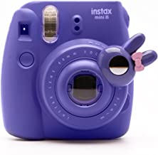 Cute Bunny Selfie And Close Up Lens Shot Mirror For Fujifilm Instax Mini 8 Mini 9 Polaroid PIC-300 Hellokitty Instant Camera (Purple Bunny)