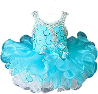 Cupcakes Small Girls' Sequins Toddlers Princess Short Pageant Dress