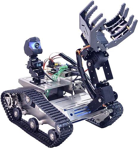 autentico en linea Foxom Programable Robot para Arduino Mega, Smart Robot Robot Robot Car Kit con WiFi, azultooth, Detectores de Obstáculos, FPV, Sensor Ultrasonico y Camara HD - Compatible con Arduino   51duino etc  promocionales de incentivo