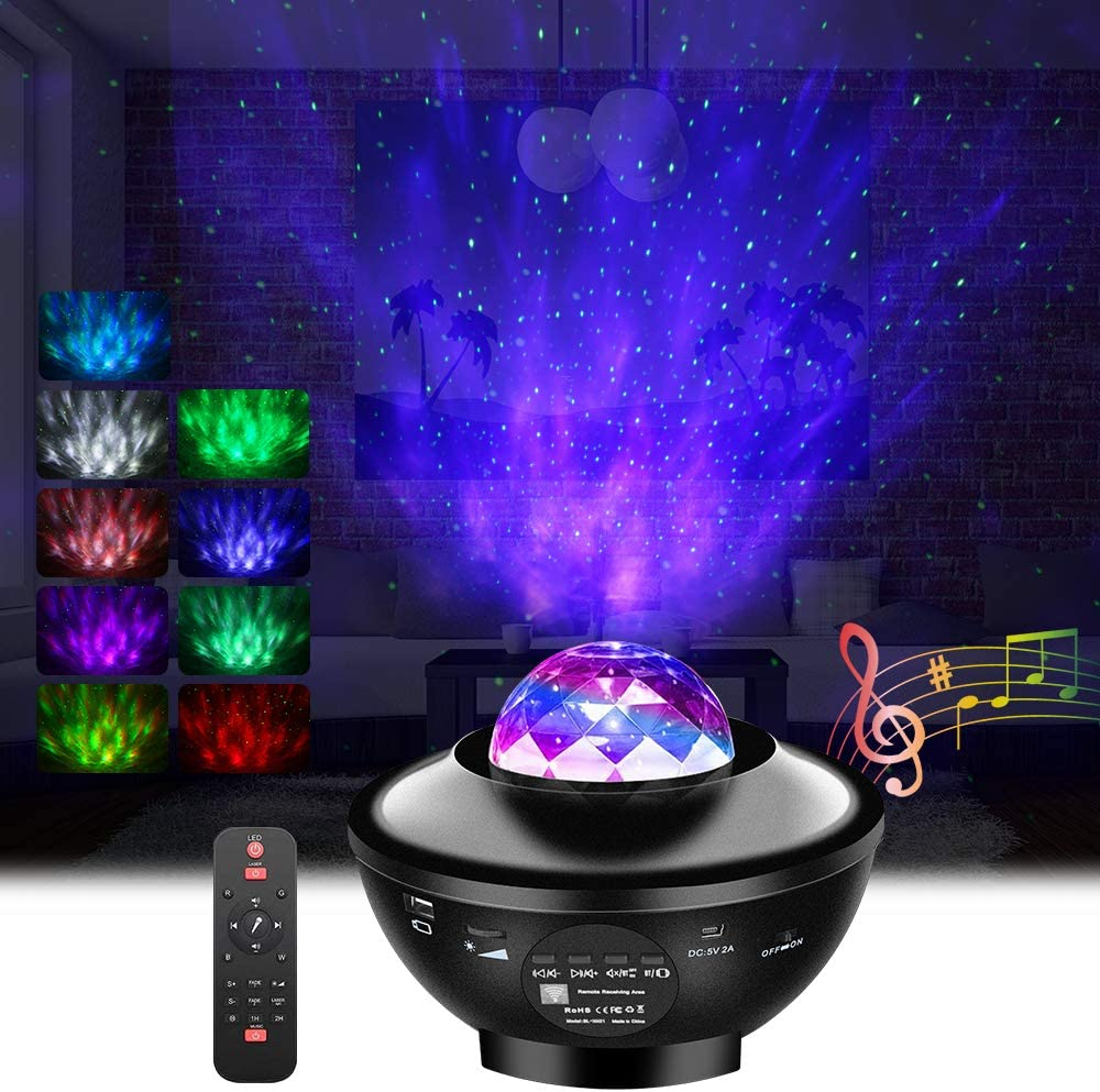 Galaxy Projector Light,GoLine Star Projector for Bedroom, Christmas Birthday Gifts for Men Women Teen Girls Boys, Nebula Projector Night Light with Bluetooth Speaker for Party Room Decoration.