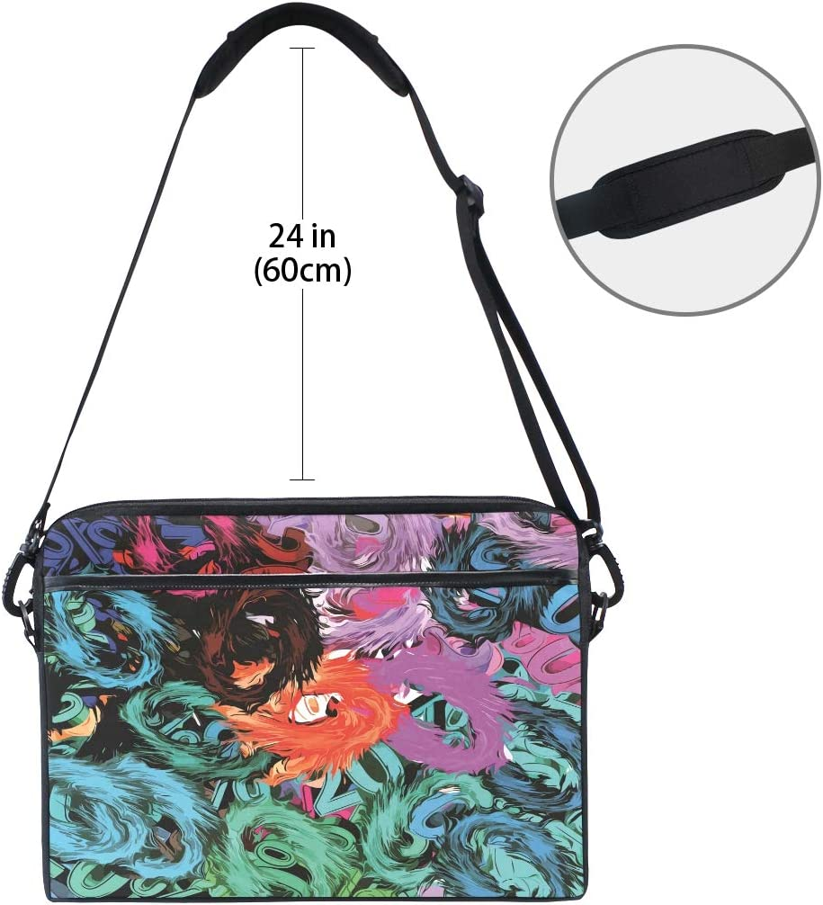 Laptop Sleeve Compatible with 15 inch 15.4 inch MacBook Pro//MacBook Air Abstract Colored Texture Laptop Case Bag