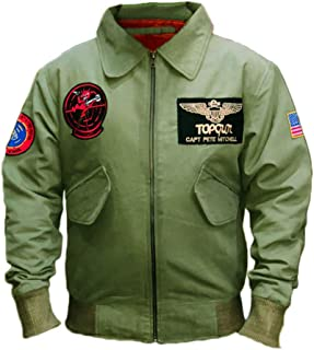 Men's MA 1 Tom Cruise Maverick Top Jet Pilot Gun Flight Bomber Cotton Cosplay Jacket