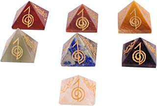 Aatm Reiki Symbol for Protection, Emotional Balancing, and Creating Connection with Supreme Energy 1 Inch Stone Pyramid fo...