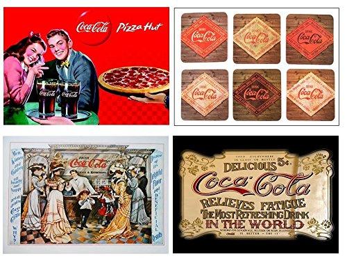 Lot 4 sets de table Coca Cola Vintage 3