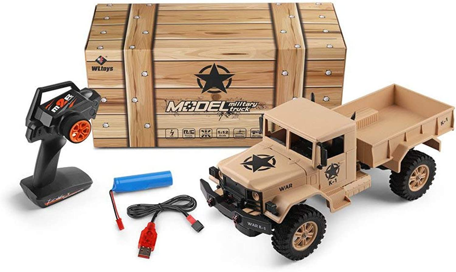 HUAXING 2019 New 1 12 2.4G 4WD 15km h 45cm Rc Car 4.5kg Load Offroad Military Truck RTR Toy Viehicle Kids Gift,Yellow