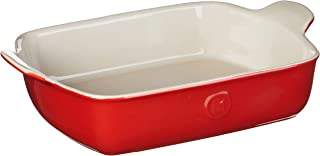 Emile Henry Modern Classics Small Rectangular Baker 11x10, 11 x 8, Rouge Red