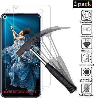 ANEWSIR Kompatibel med Huawei Honor 20/Honor 20 pro/Huawei Nova 5t skärmskydd 【2-pack】[Inga bubblor] [9H hårdhet] [Lätt at...