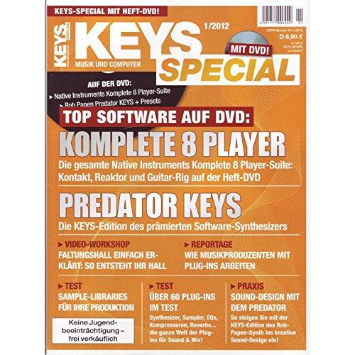 Keys Special 1/2012 Plug-Ins mit Komplete 8 Player auf Heft-DVD