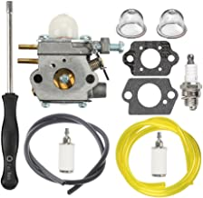 HIPA 753-06190 Carburetor with Fuel Line Filter Spark Plug for MTD Troy Bilt TB21EC TB22 TB22EC TB32EC TB42BC TB80EC TB2040XP String Trimmer Brushcutter
