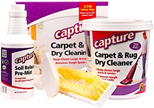 Capture Carpet Dry Cleaning Kit 250 – Deodorize Smell Allergens Stains Moisture..