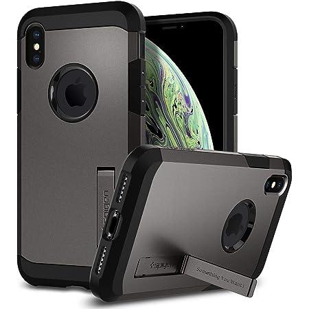 【Spigen】 iPhone XS ケース/iPhone X ケース 5.8インチ 対応 耐衝撃 米軍MIL規格取得 スタンド機能 タフ・アーマー 057CS22161 (ガンメタル)